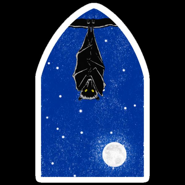 Bat in the Window by SusanSanford