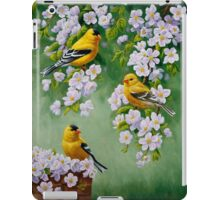 Goldfinches and Blossoms iPad Case/Skin