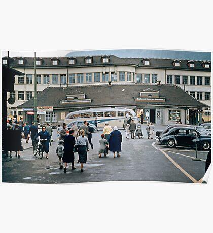 Thun Railway station Interchange  19570922 0008 Poster