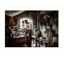 Leather smith Art Print