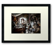 Leather smith Framed Print