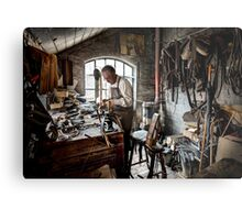 Leather smith Metal Print