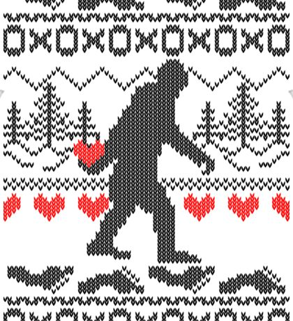 Gone Squatchin for Love this Holiday Sticker