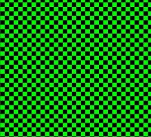 Square Pattern Design Green and Black  by Sookiesooker