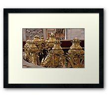 Votives In Gold Framed Print