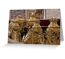 Votives In Gold Greeting Card