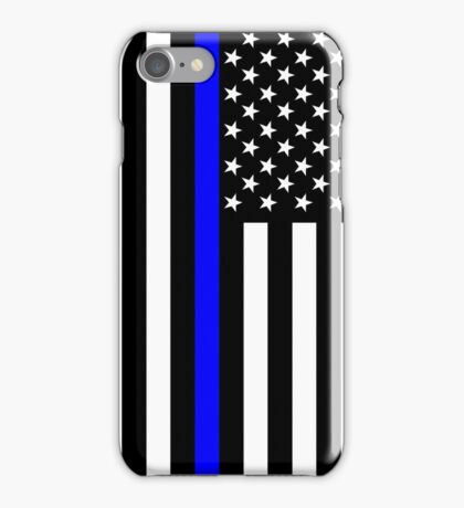 The Symbolic Thin Blue Line on US Flag iPhone Case/Skin