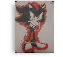 Shadow The Hedgehog Drawing Canvas Print