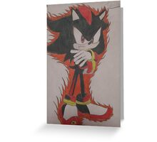 Shadow The Hedgehog Drawing Greeting Card