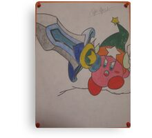 Kirby Super Sword Canvas Print