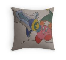 Kirby Super Sword Throw Pillow