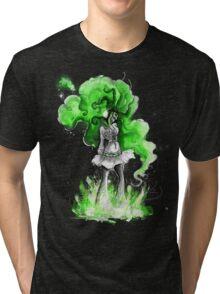 Rainbow Punk: Malachite Bassdrop Tri-blend T-Shirt