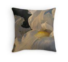 White Iris Glisten Throw Pillow