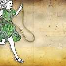 Skipping Girl Postcard by GretelGirl