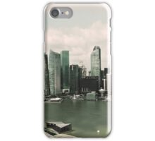 Singapore skyline as viewed from the Marina Bay Sands Hotel iPhone Case/Skin