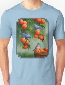 Bluebirds and Peaches Unisex T-Shirt