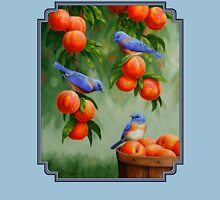 Bluebirds and Peaches Womens Fitted T-Shirt