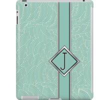 1920s Blue Deco Swing with Monogram letter j iPad Case/Skin