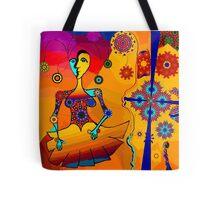 Girl With Kaleidoscope Eyes Tote Bag