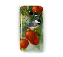 Bird Painting - Apple Harvest Chickadees Samsung Galaxy Case/Skin