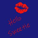 Hello Sweetie (Tardis Blue) by minorbubbles