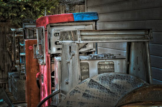 Bill's Old Gas Pumps by SRLongstroth