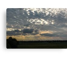 Rays through the Clouds Canvas Print