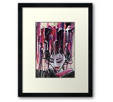 Geisha in Mushrooms: The Surrealistic Concubine Framed Print
