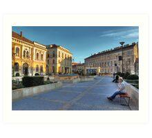 Sopron plaza Art Print