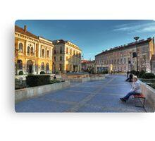 Sopron plaza Canvas Print