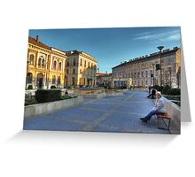 Sopron plaza Greeting Card