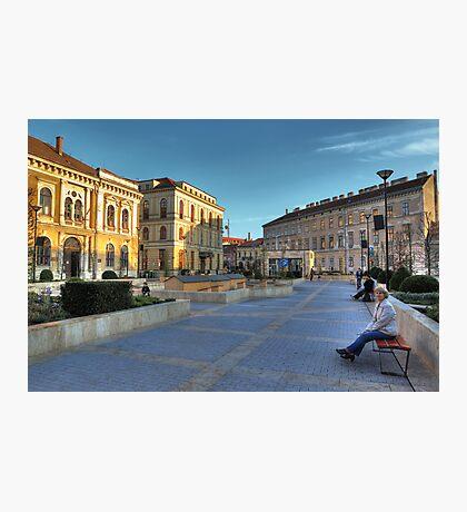 Sopron plaza Photographic Print