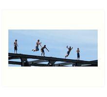 bridge jumpers Art Print