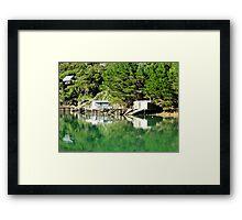 boatsheds Framed Print