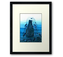 Blue Kiln Framed Print