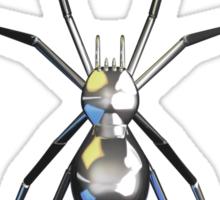 Chrome Black Widow Design1 Sticker