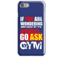 Funny Fitness Items.  iPhone Case/Skin