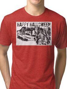 Halloween Zombies Tri-blend T-Shirt