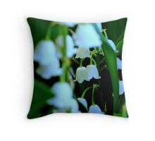 Protection..Lily of the Valley..my birthday flower Throw Pillow