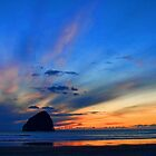 Oregon Coastal Sunset by Charles Tribbey