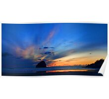 Oregon Coastal Sunset Poster