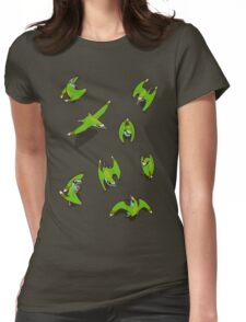 Tiny Pterosaur Bunch (Nemicolopterus) Womens Fitted T-Shirt