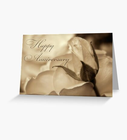 Romance in  sepia - Anniversary Greeting Card