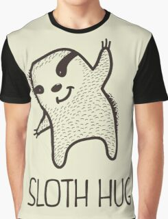 Sloth Hug Graphic T-Shirt