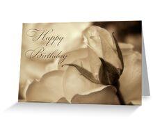 Romance in  sepia - Birthday Greeting Card