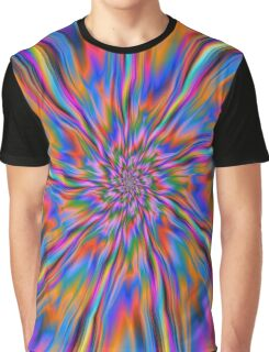 Combustion of Blue Pink and Orange  Graphic T-Shirt