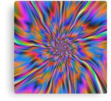 Combustion of Blue Pink and Orange  Canvas Print