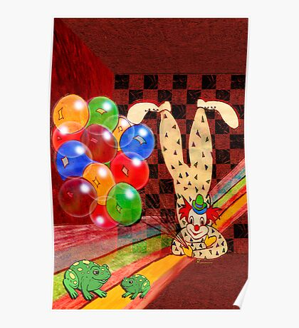 PARTY CLOWN AND FROGS Poster