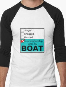 In A Relationship With My Boat Men's Baseball ¾ T-Shirt