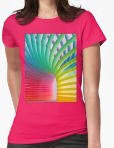Rainbow Slinky 5 Womens Fitted T-Shirt